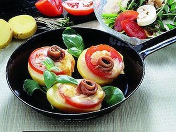 Kartoffelhälften mit Tomaten - BCM Diät Rezepte.ch