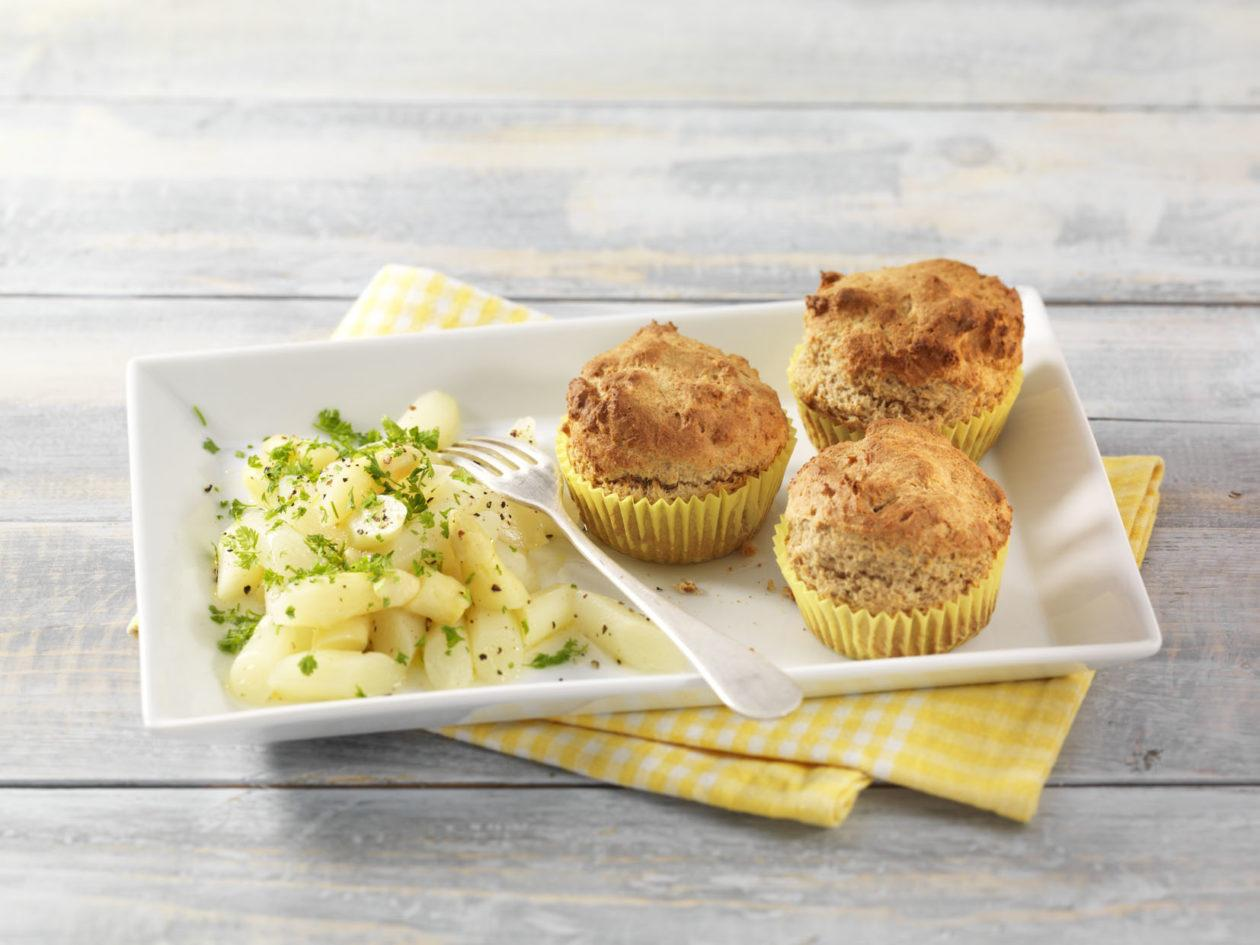 Parmesan-Muffins mit Spargelsalat - BCM Diät Rezepte.ch